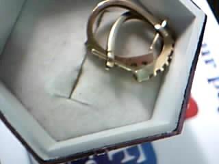 Gold-Diamond Earrings 12 Diamonds .12 Carat T.W. 14K Yellow Gold 2.13g
