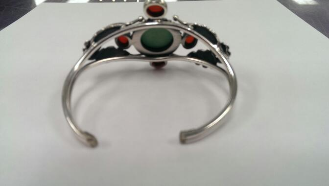 Turquoise Silver-Stone Bracelet 925 Silver 32.2g