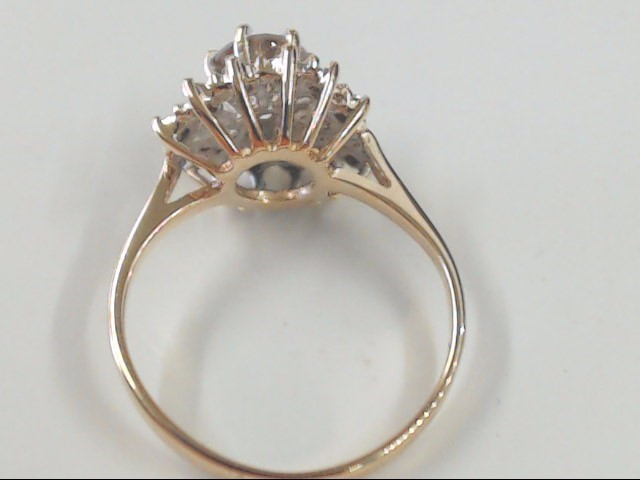 VINTAGE NATURAL CHAMPAGNE DIAMOND RING SOLID 14K GOLD ENGAGE WED