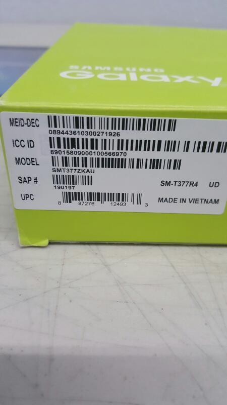 """Samsung Galaxy Tab E, 16gb (8"""", SM-T377R4, Black, U.S. Cellular)"""