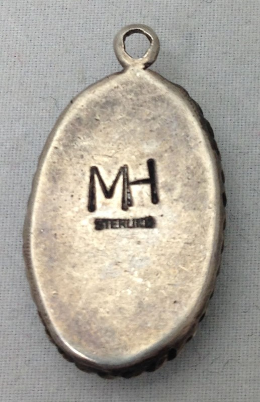 Sterling Silver Green Malachite Pendant