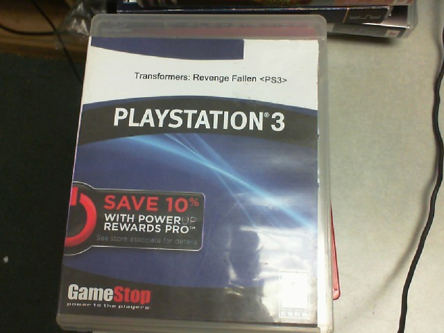SONY Sony PlayStation 3 Game TRANSFORMERS REVENGE OF THE FALLEN