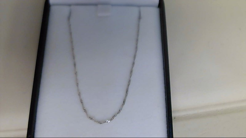 "18"" Gold Fine Chain 14K White Gold 1g"