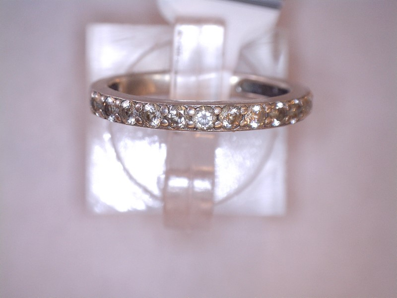 Cubic Zirconia Lady's Silver & Stone Ring 925 Silver 1.29dwt Size:7