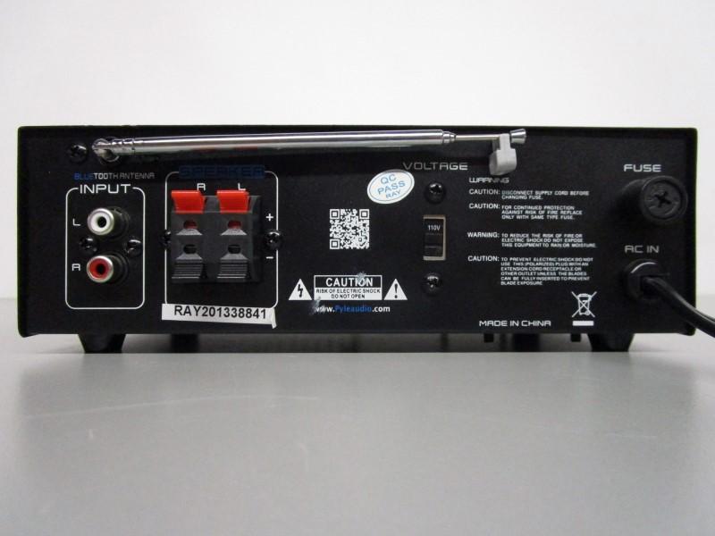 PYLE PCAU48BT MINI BLUE 2 X 120 WATT STEREO POWER AMPLIFIER