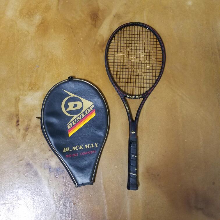 DUNLOP Tennis BLACK MAX MID SIZE COMPOSITE