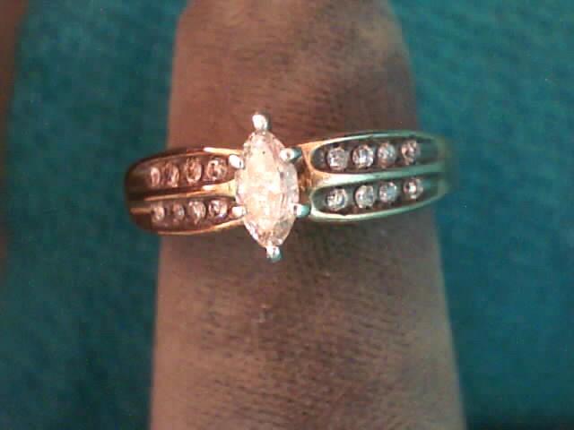 Lady's Diamond Engagement Ring 17 Diamonds .41 Carat T.W. 10K Yellow Gold
