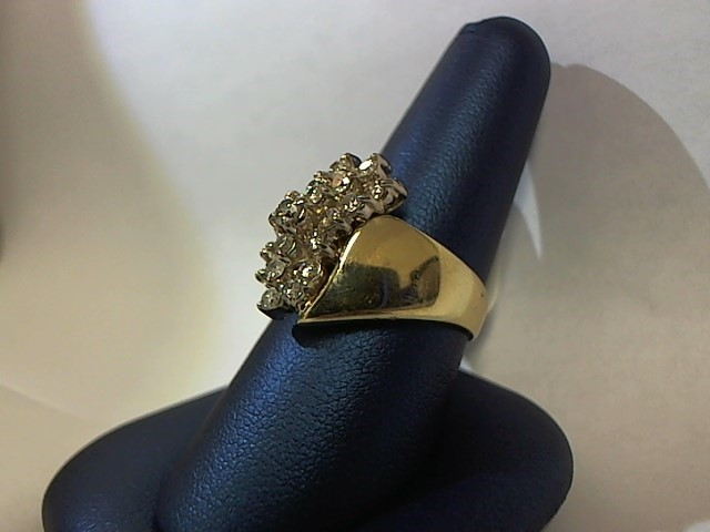 Lady's Diamond Fashion Ring 19 Diamonds .62 Carat T.W. 14K Yellow Gold 8.1g