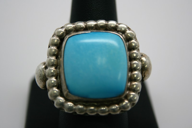FASHION STYLE TURQUOISE SILVER RING 10