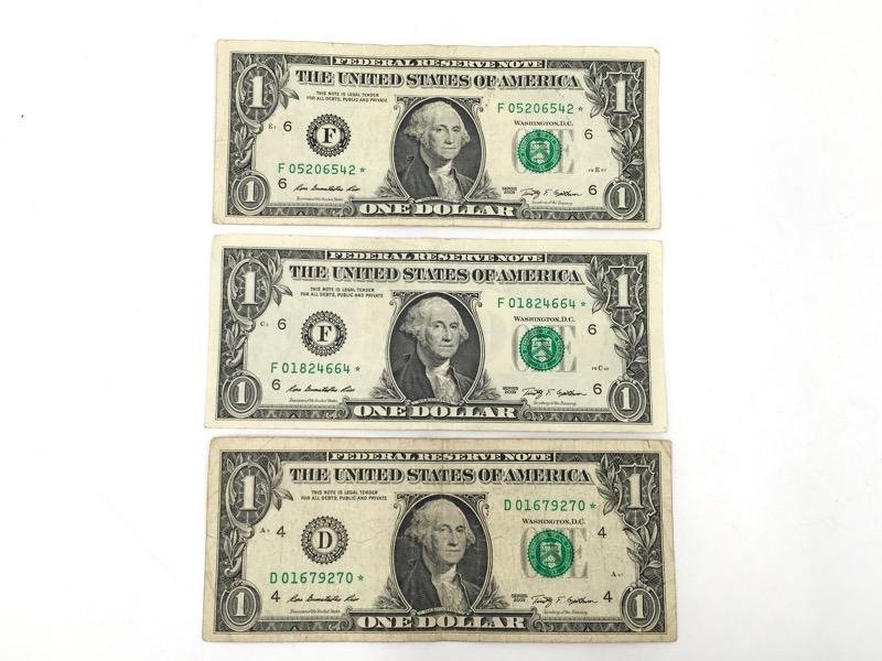 2009 $1 STAR Notes - Atlanta/Cleveland Serial No. - Lot of 3