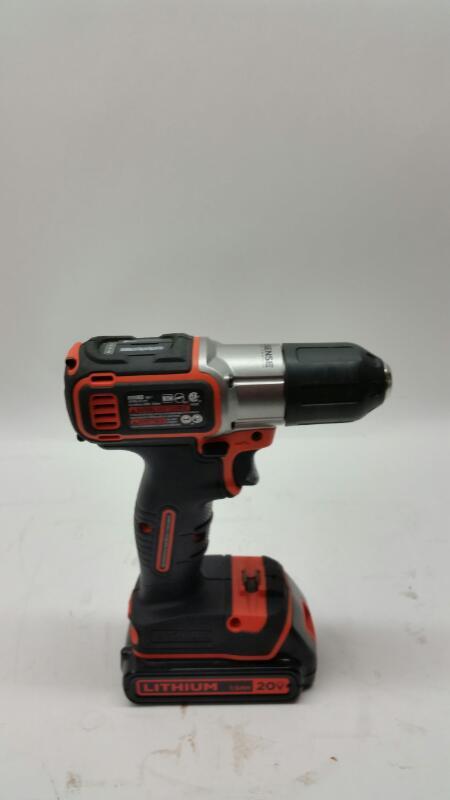 Black&Decker BDCDE120 Cordless Drill 20 Volt