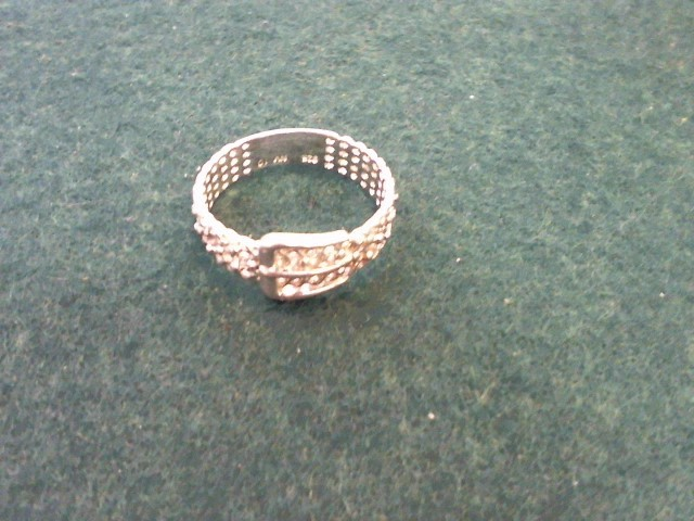 Lady's Silver Ring 925 Silver 3.1g Size:10.5