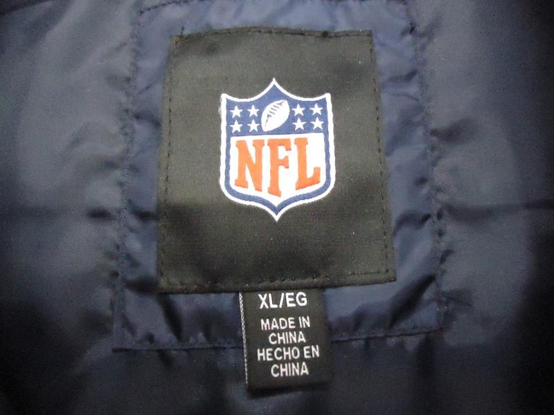 CHICAGO BEARS Coat/Jacket TWILL JACKET NFL BLITZ BLUE ORANGE