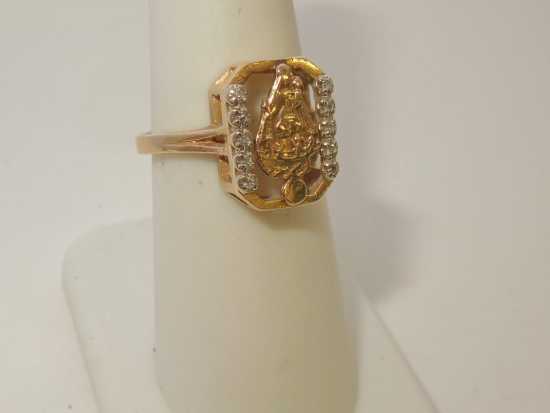 Lady's Diamond Fashion Ring 10 Diamonds .050 Carat T.W. 14K Yellow Gold 3.2g
