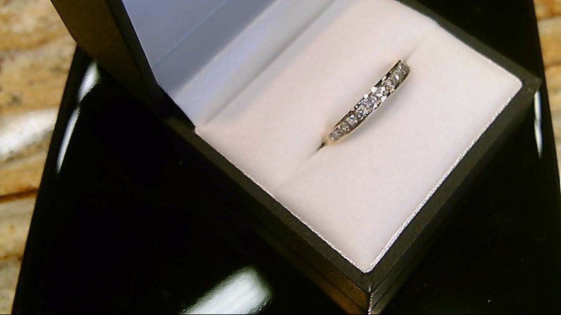 LADY'S 14K YELLOW GOLD APPX. 1/2CTTW ROUND DIAMOND WED BAND