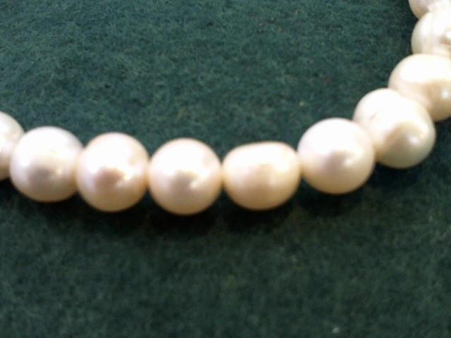 Synthetic Pearl Stone Bracelet 18.2g
