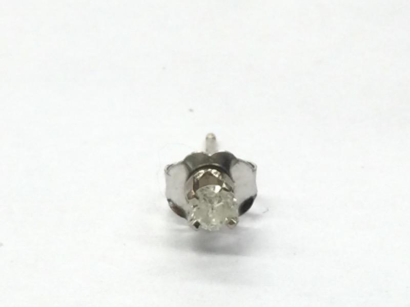 14 KT Gold-Diamond Earrings DIAMOND STUD (SGL) .01 CT. 14K White Gold 0.2dwt