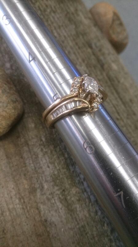 Lady's Diamond Wedding Set 23 Diamonds .36 Carat T.W. 14K Yellow Gold 4.7g