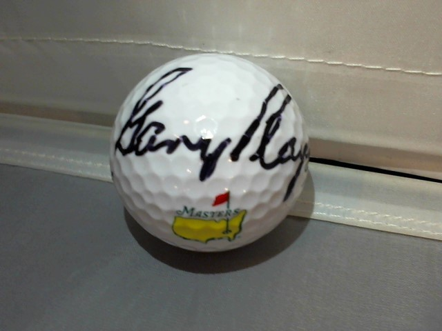 Gary Player Signed/Auto Official Masters Golf Ball