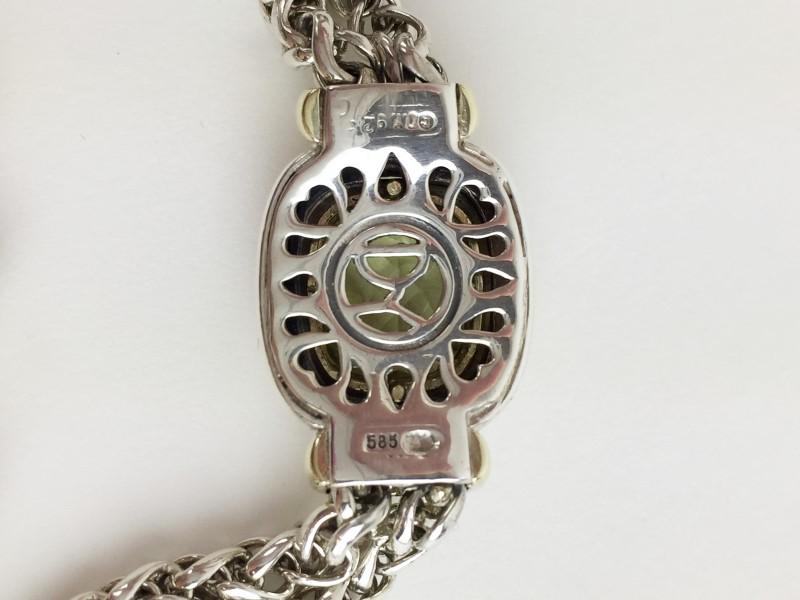 David Yurman Citrine 14kt .925 Sterling Silver 27.8g Bracelet