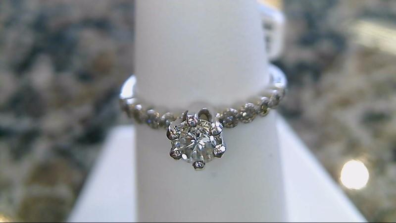 Lady's Diamond Engagement Ring 11 Diamonds .50 Carat T.W. 14K White Gold 2.1g