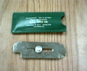 "G.A.L. GAGE CO. ""One of a kind"" FILLET GAGE"