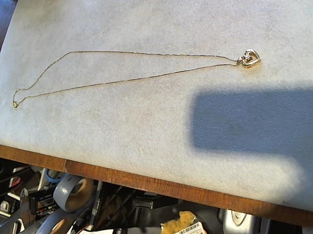 Diamond Necklace .05 CT. 14K Yellow Gold 2.7g