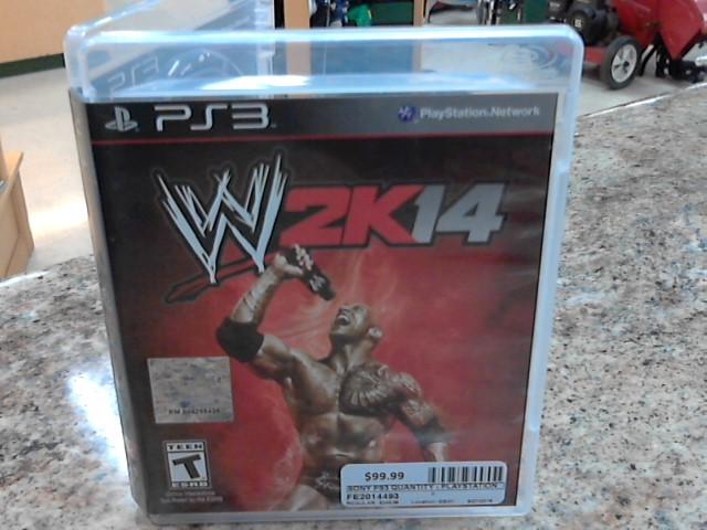 SONY Sony PlayStation 3 Game WWE 2K14 PS3