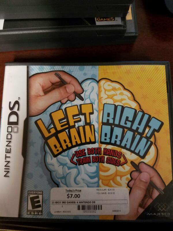 NINTENDO Nintendo DS Game LEFT BRAIN RIGHT BRAIN