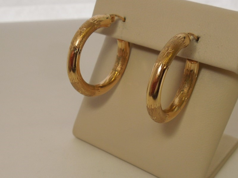 Gold Earrings 10K Yellow Gold 2.5g