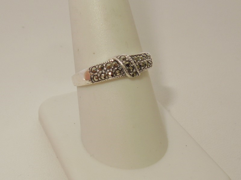 Brown Stone Lady's Silver & Stone Ring 925 Silver 2g