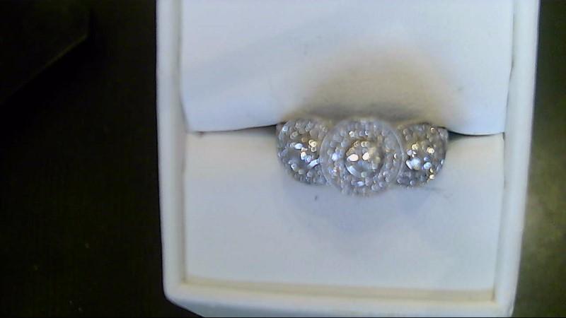 Lady's Diamond Fashion Ring 39 Diamonds .42 Carat T.W. 14K White Gold 4.9g
