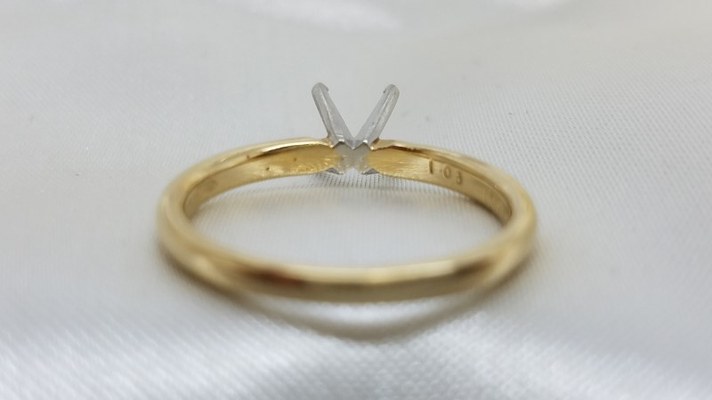 Lady's Gold Ring Mount 14K Yellow Gold 1.8g Size:6