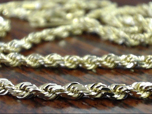 "VINTAGE 18"" ROPE NECKLACE CHAIN SOLID REAL 14K YELLOW GOLD TWIST"