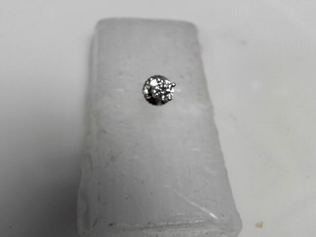 Single Diamond Stud Earrings .20 CT. 950 Platinum 0.7g
