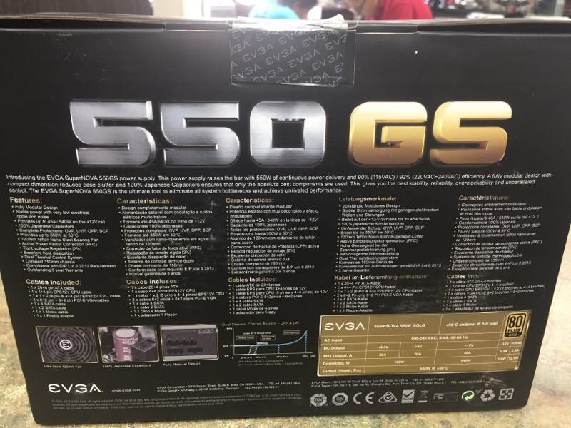EVGA Computer Component SUPERNOVA 550 GS