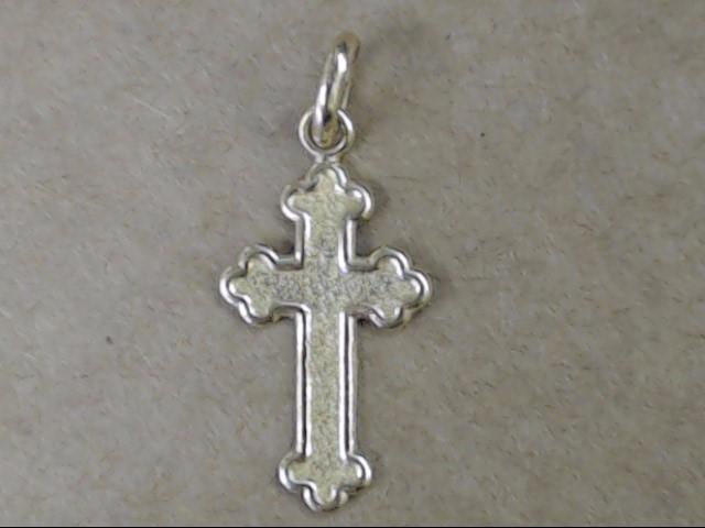 VINTAGE CROSS PENDANT CHARM REAL 14K GOLD JESUS CHRISTIAN RELIGIOUS