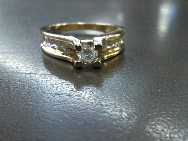 Lady's Diamond Fashion Ring 11 Diamonds 1.03 Carat T.W. 14K Yellow Gold 5.2g