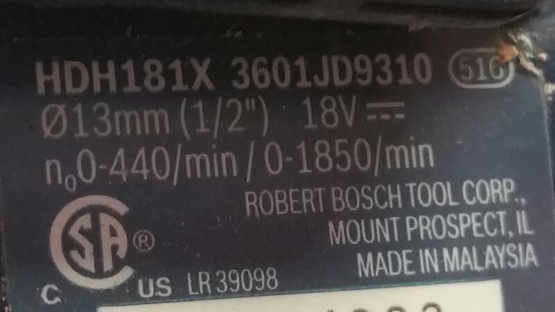 BOSCH Cordless Drill 18V LITHIUM ION DRILL