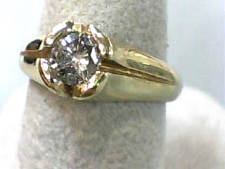 Lady's Diamond Engagement Ring .50 CT. 14K Yellow Gold 4.3dwt Size:7