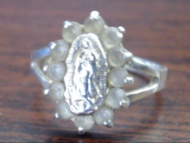 Lady's Silver Ring 925 Silver 2.1g Size:6