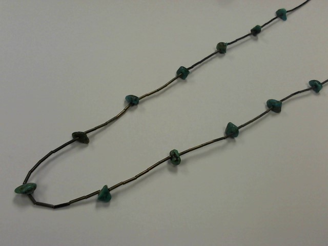 Teal Stone Stone Necklace 925 Silver 7.5g