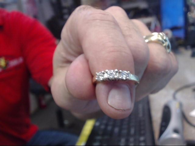 Lady's Gold-Diamond Anniversary Ring 3 Diamonds .50 Carat T.W. 14K Yellow Gold