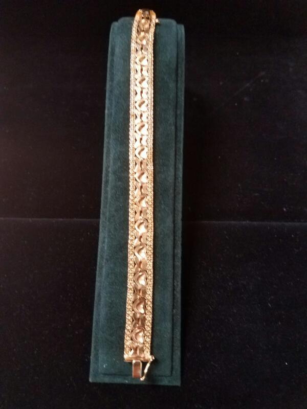 Gold Fashion Bracelet 14K Yellow Gold 11.1g