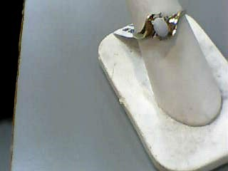 Opal Lady's Stone Ring 10K Yellow Gold 1dwt