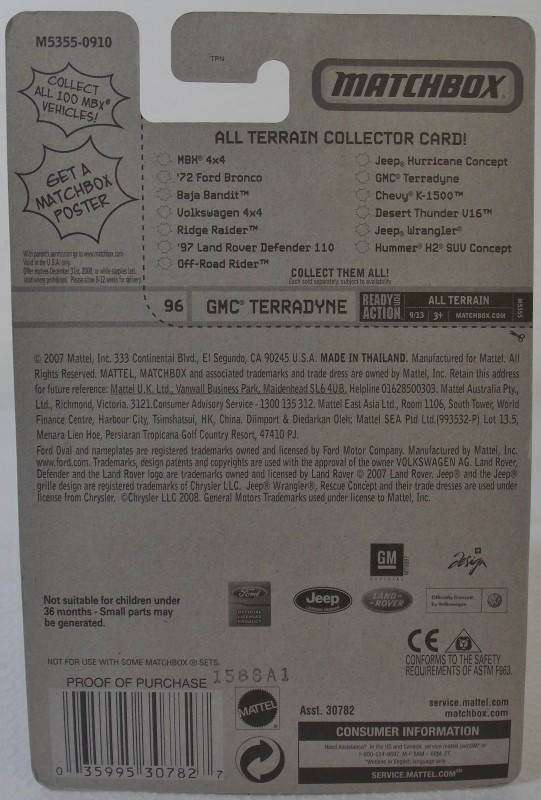 TWO MATCHBOX VEHICLES: ICE CREAM VAN AND GMC TERRADYNE