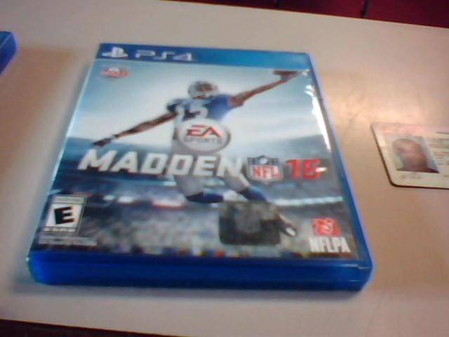 Sony Ps4 Madden NFL 16
