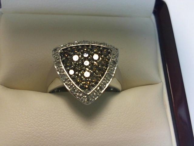 Lady's Diamond Fashion Ring 53 Diamonds .55 Carat T.W. 14K White Gold 3.5dwt