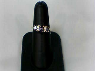 Amethyst Lady's Stone Ring 10K Yellow Gold 2dwt Size:7