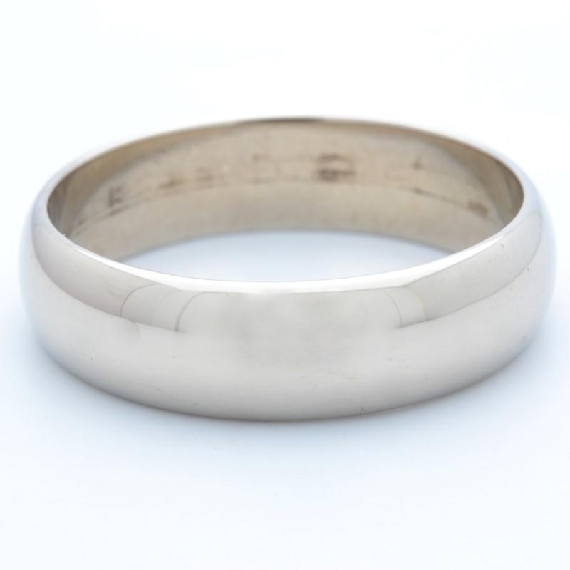 ESTATE SOLID 14K GOLD 6MM WEDDING RING BAND MEN PLAIN FINE SIZE 10.5